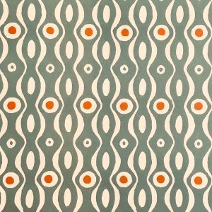 Cambridge Imprint Persephone Patterned Paper in Teal and Orange