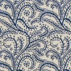 Cambridge Imprint Seaweed Paisley Patterned Paper in Prussian Blue