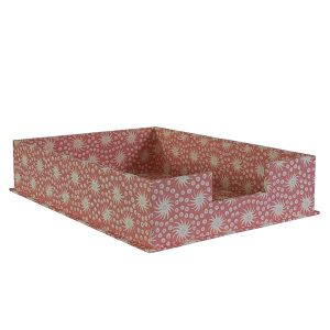 A4 Letter Tray Milky Way Old Red and Pink by Cambridge Imprint