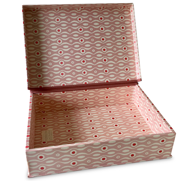 A4 Box File Persephone Pink and Raspberry by Cambridge Imprint