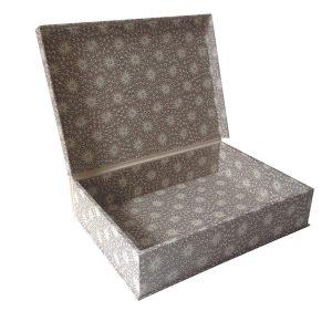 A4 Box File Milky Way Smoke Grey by Cambridge Imprint