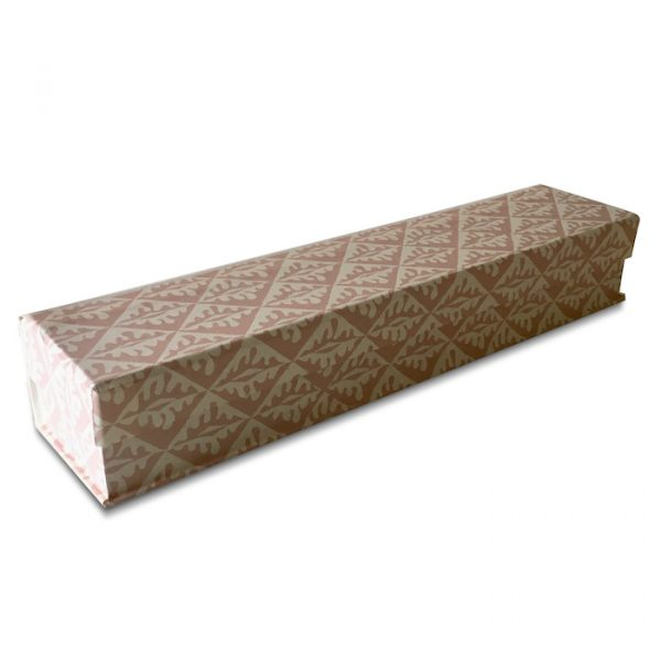 Cambridge Imprint Pen Boxcovered in Oak Leaves Patterned Paper