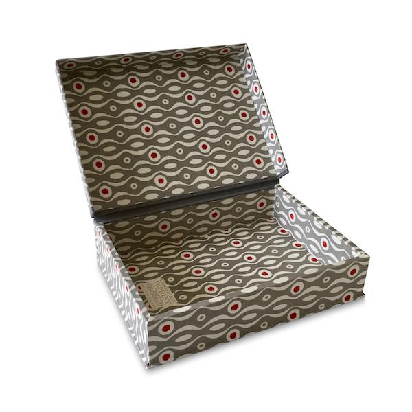 A5 Box File Persephone Grey and Crimson by Cambridge Imprint