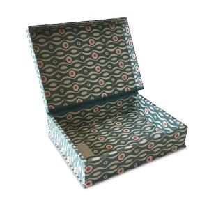 A5 Box File Persephone Box File Teal and Orange by Cambridge Imprint