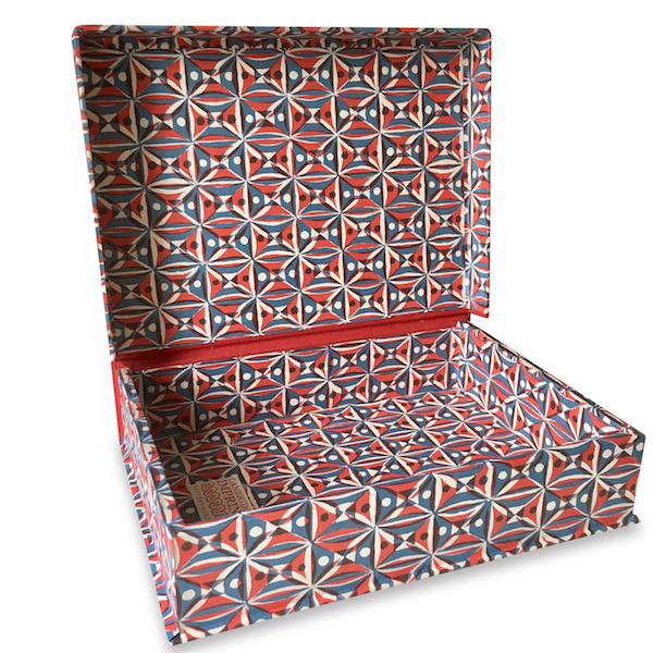 A5 Box File Kaleidoscope Red and Blue by Cambridge Imprint