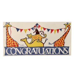 Circus Congratulations Card by Cambridge Imprint