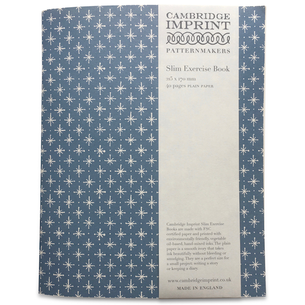 Cambridge Imprint Exercise Book in Little Stars Faded Denim