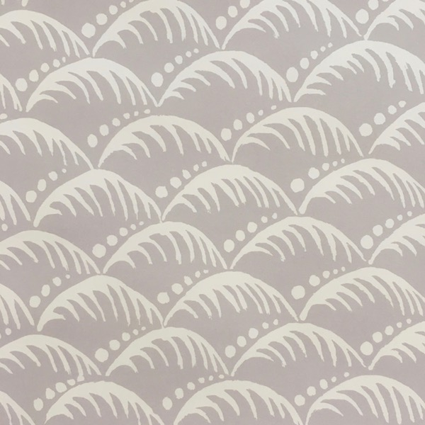 Patterned Wave Paper in Pearl Grey by Cambridge Imprint
