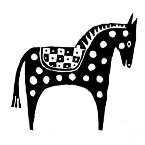 Cambridge Imprint Horse Printing Block