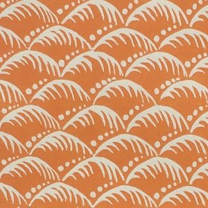 Patterned Wave Paper in Blood Orange by Cambridge Imprint