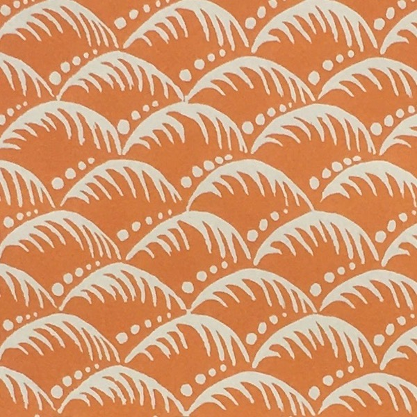 Cambridge Imprint Patterned Paper in Wave Paper Blood Orange