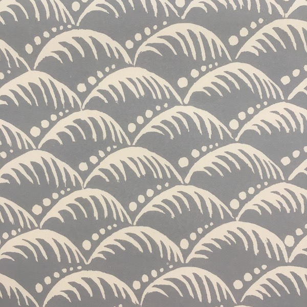 Patterned Wave Paper in Storm Grey by Cambridge Imprint