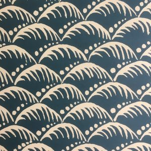 Patterned Wave Paper in Indigo by Cambridge Imprint