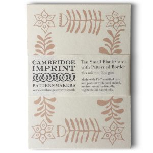Cambridge Imprint Small Cards with Folk Art Patterned Border