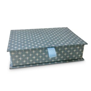 Cambridge Imprint Postcard Box covered in Little Stars Patterned Paper