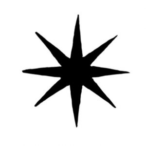Cambridge Imprint Eight-Pointed Star Printing Block