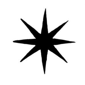 Cambridge Imprint Eight-Pointed Star Printing Block