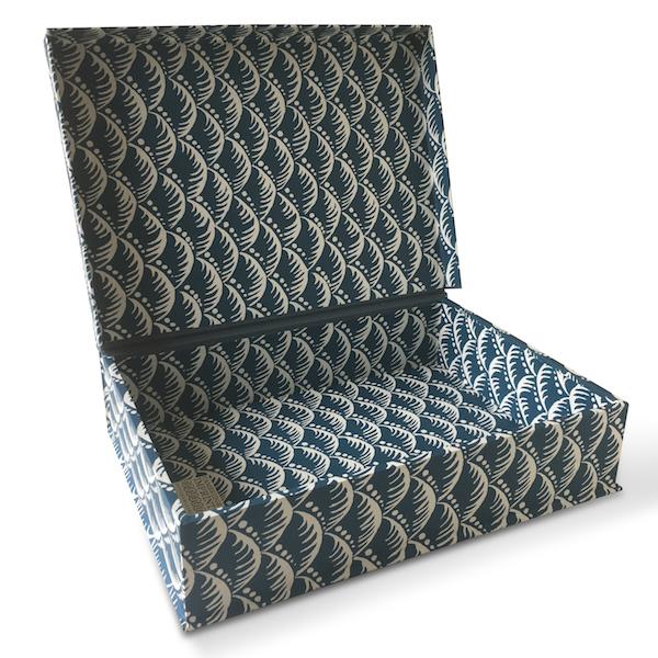 A4 Box File Wave Indigo by Cambridge Imprint