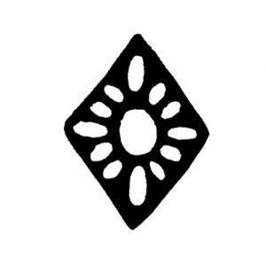 Cambridge Imprint Patterned Lozenge Printing Block