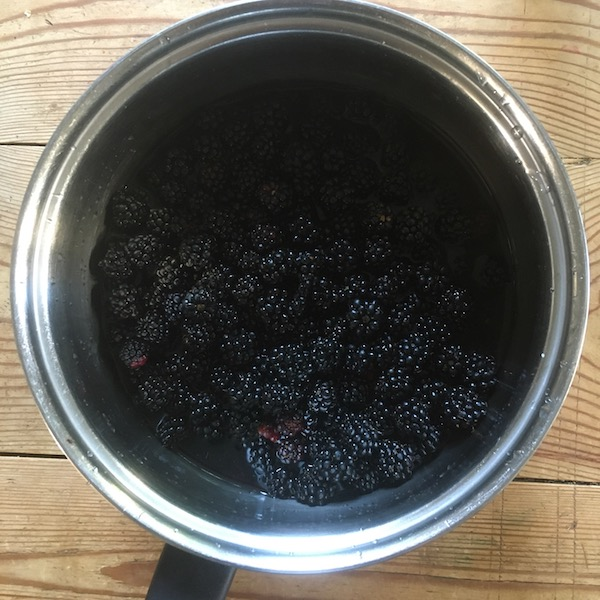 Cooking Blackberries