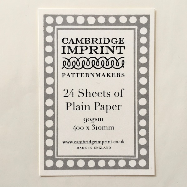Plain Paper for printing by Cambridge Imprint