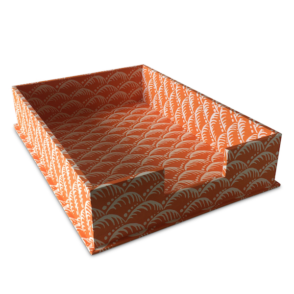 A4 Letter Tray Wave Blood Orange by Cambridge Imprint