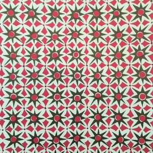 Alhambra Patterned Paper by Cambridge Imprint in Green and Pink