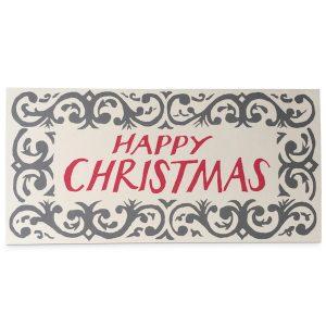 Happy Christmas Arabesque Card by Cambridge Imprint