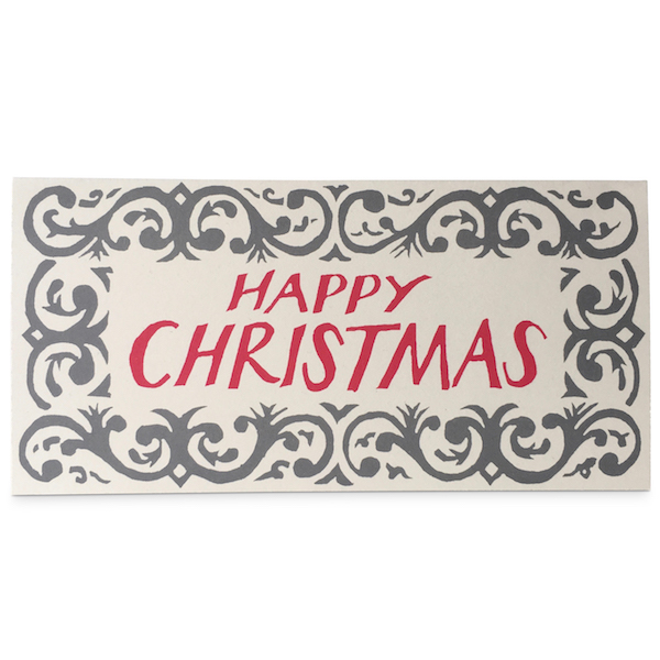 Happy Christmas Arabesque Card by Cambridge Imprint