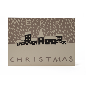 Christmas Snowy Town card by Cambridge Imprint