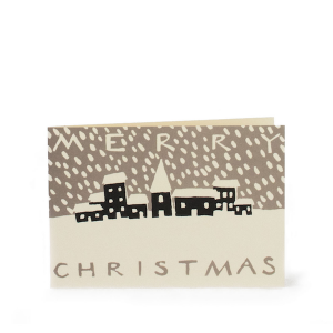 Christmas Snowy Town card by Cambridge Imprint