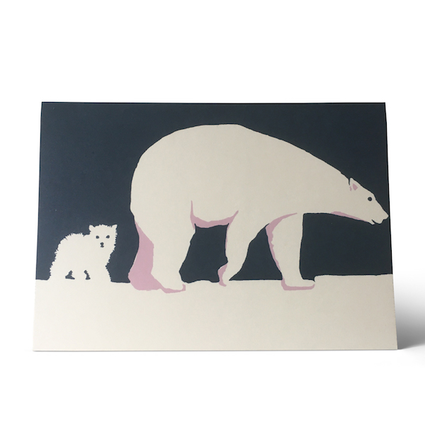 Baby Polar Bear Card by Cambridge Imprint