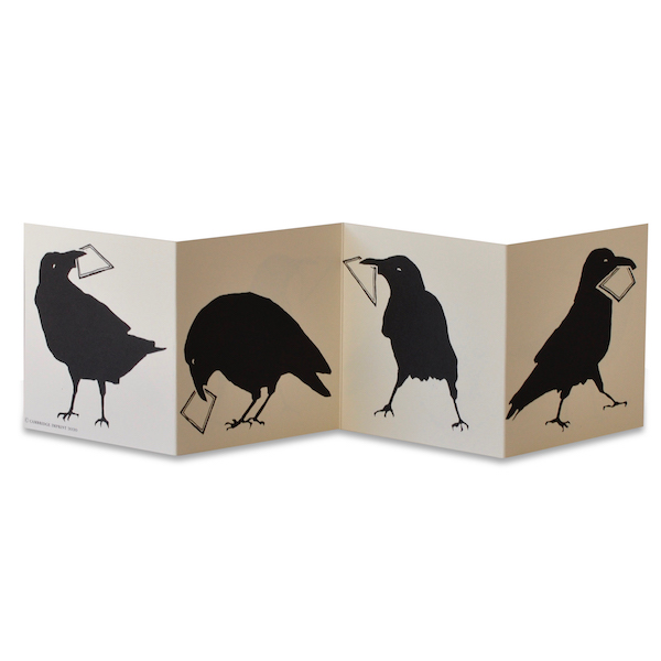 Parliament of Crows card by Cambridge Imprint