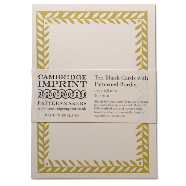 Cambridge Imprint Blank Cards with Patterned Border