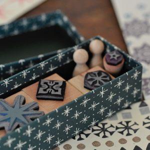 Small Set of Starry Printing Blocks by Cambridge Imprint