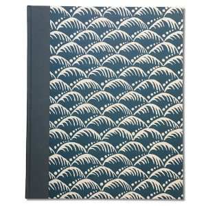 Cambridge Imprint Album covered in Wave Indigo patterned paper