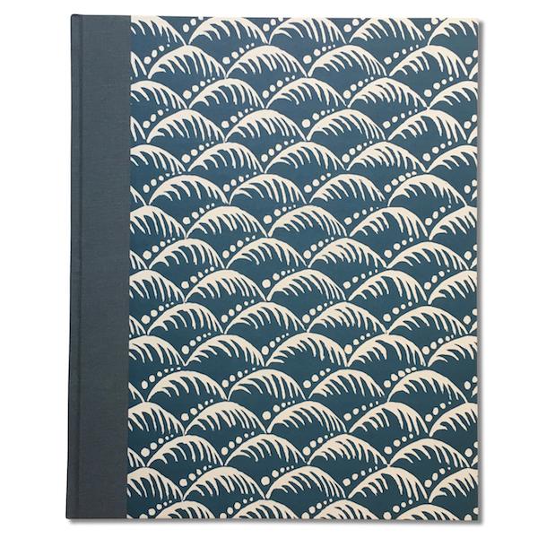 Cambridge Imprint Album covered in Wave Indigo patterned paper