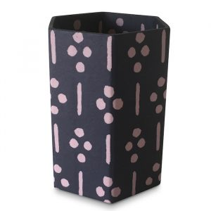 Pencil Pot covered in Ugizawa Blackberry Patterned Paper by Cambridge Imprint