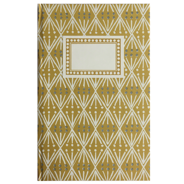 Hardback Notebook covered in Selvedge patterned paper by Cambridge Imprint