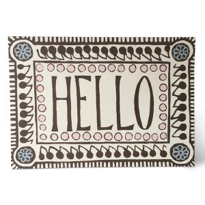 Hello Pattern card by Cambridge Imprint