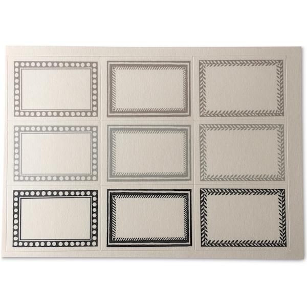 Cambridge Imprint Small Black and Grey Labels