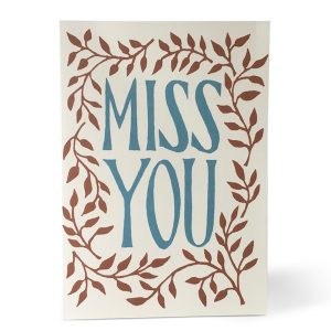 Miss You card by Cambridge Imprint