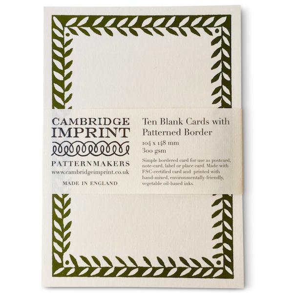 Cambridge Imprint Postcard with Border