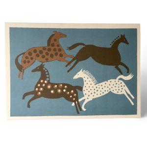 Cambridge Imprint Four Horses Card