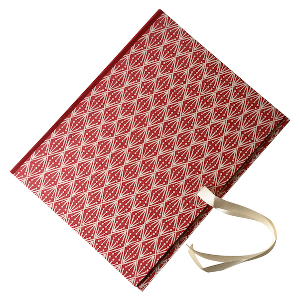 Cambridge Imprint Portfolio covered in Selvedge patterned paper