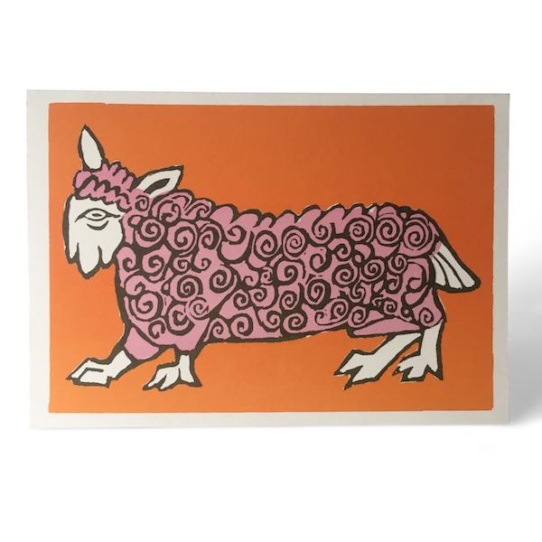 Cambridge Imprint Very Curly Sheep Card
