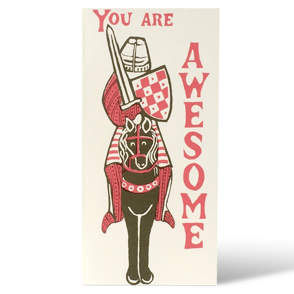 Awesome Knight card by Cambridge Imprint