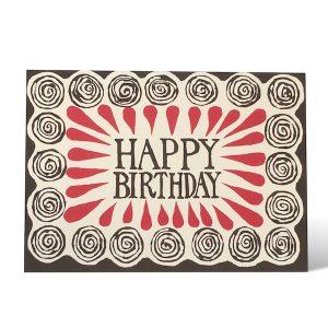 Happy Birthday Spirals card by Cambridge Imprint