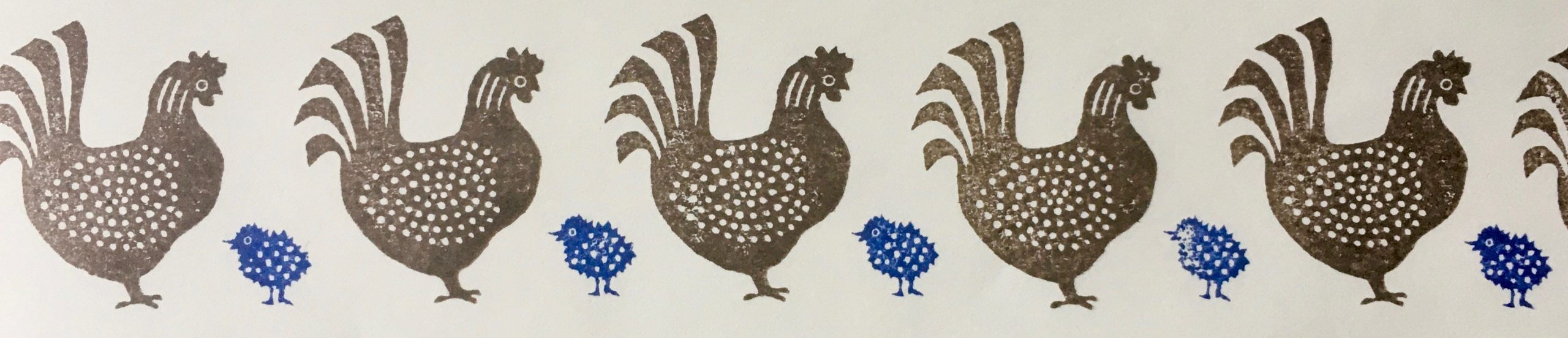 Cambridge Imprint Speckled Hen border