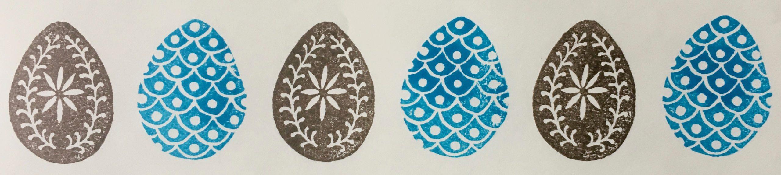 Cambridge Imprint Easter Egg Border